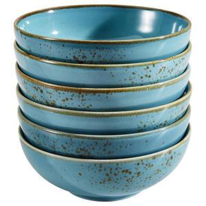 XXXLutz Schüsselset keramik steinzeug 6-teilig , 22044 , Türkis , 007768024602