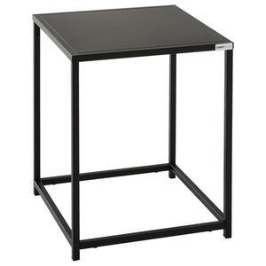 Carryhome Beistelltisch quadratisch schwarz , Nils , Metall , 38x45.7x37 cm , pulverbeschichtet , 000874000302