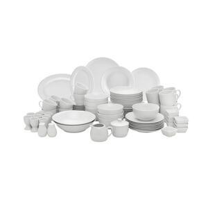 Homeware Porzellan kombiservice 80-teilig , Diana , Weiß , Keramik , Uni , 230 ml,230 ml,250 ml,250 ml,290 ml,640 ml , glänzend , hitzebeständig , 0036290079