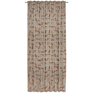 Ambiente Fertigvorhang halbtransparent 140/245 cm , Nevio , Kupferfarben , Textil , Abstraktes , 140x245 cm , für Stange und Schiene geeignet, mit Kombiband , 003524004502