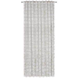 Ambiente Fertigvorhang halbtransparent 140/245 cm , Nevio , Weiß , Textil , Abstraktes , 140x245 cm , für Stange und Schiene geeignet, mit Kombiband , 003524004503