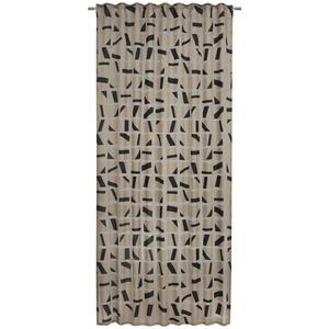 Ambiente Fertigvorhang halbtransparent 140/245 cm , Nevio , Schwarz , Textil , Abstraktes , 140x245 cm , für Stange und Schiene geeignet, mit Kombiband , 003524004501