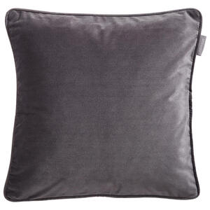 Ambiente Kissenhülle titanfarben 40/40 cm , Zenato Samt Uni , Textil , Uni , 40x40 cm , Samt , 003917045609
