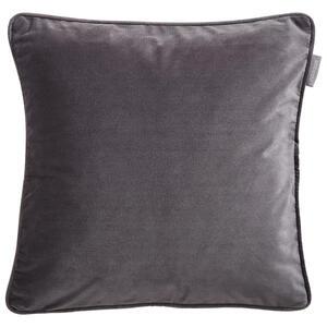 Ambiente Kissenhülle titanfarben 50/50 cm , Zenato Samt Uni , Textil , Uni , 50x50 cm , Samt , 003917045709