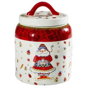 X-Mas Keksdose 2 l , Tct07755C , Rot, Weiß , Kunststoff, Keramik , 18.8 cm , matt,glänzend , lebensmittelecht , 006593004702