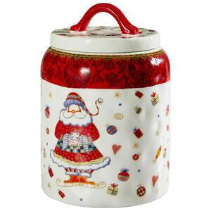 X-Mas Keksdose 4 l , Tct07755B , Rot, Weiß , Kunststoff, Keramik , 25.4 cm , matt,glänzend , lebensmittelecht , 006593004701