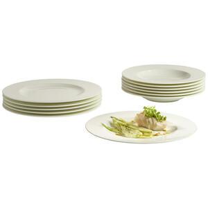 Villeroy & Boch tafelservice 12-teilig , 19-5160-7609 , Weiß , Keramik , Uni , 19x32x34 cm , 003407047602