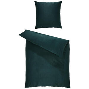 Bio:Vio Bettwäsche satin grün 155/220 cm , Merada , Textil , Uni , 155x220 cm , Satin , 004378011307