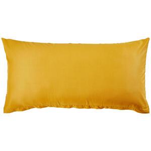 Bio:Vio Kissenhülle gelb 40/80 cm , Merada , Textil , Uni , 40x80 cm , Satin , 004378011505