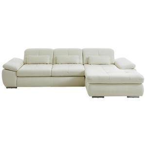 Beldomo Speed Wohnlandschaft weiß echtleder , Anthony-L  -Exklusiv- , Leder , 3-Sitzer , glänzend,pigmentiert , erweiterbar, Typenauswahl, Bettkasten erhältlich, Fußauswahl, Lederauswahl, seitenv