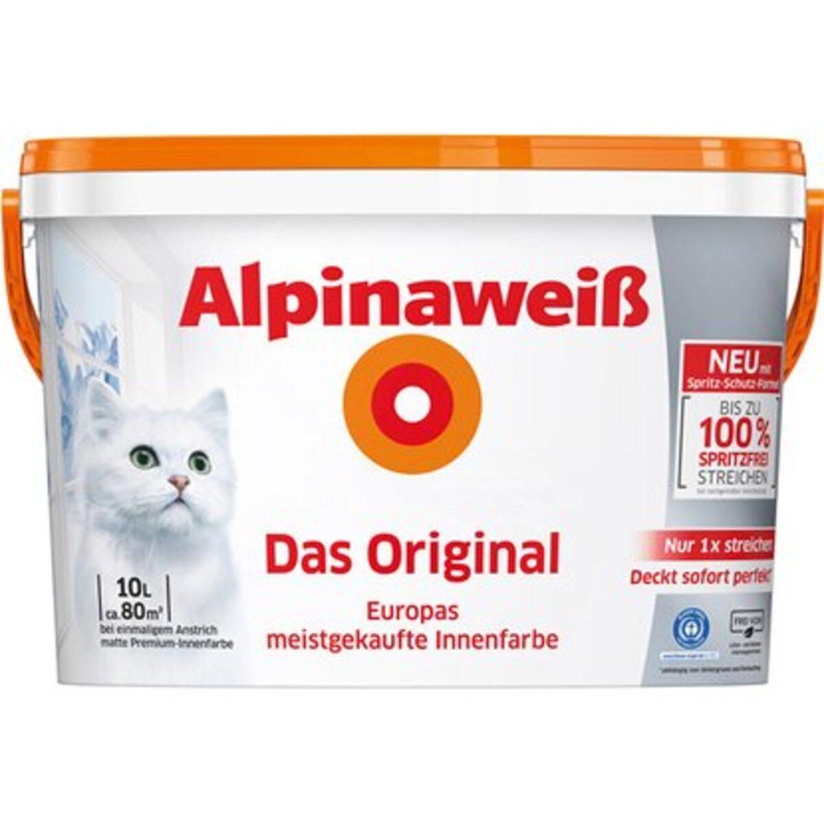 Bild 1 von MwSt-Aktion Alpinaweiß Das Original spritzfrei 10 Liter