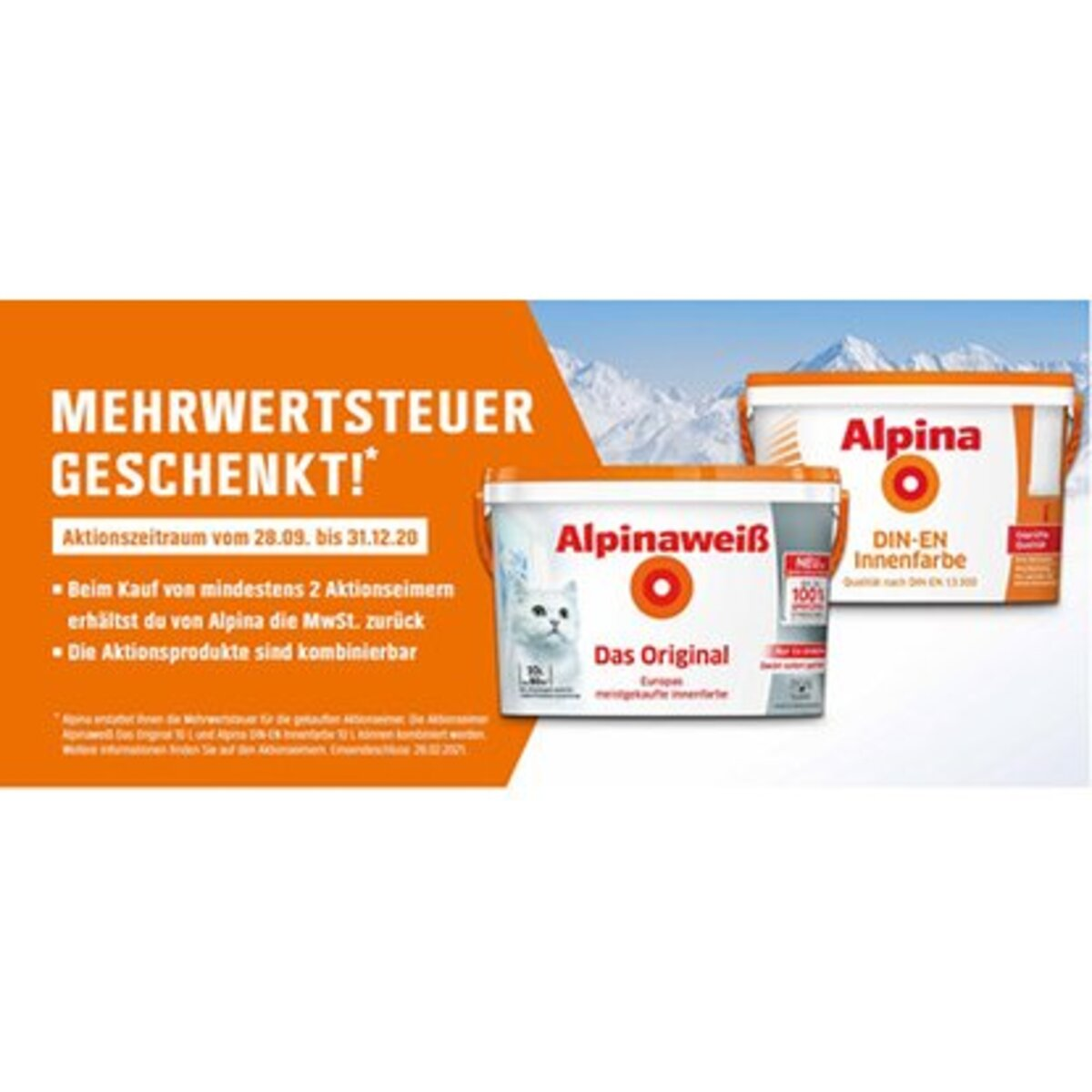 Bild 2 von MwSt-Aktion Alpinaweiß Das Original spritzfrei 10 Liter