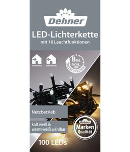 Dehner LED-Lichterkette warmweiß/kaltweiß, 100 LEDs