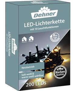Dehner LED-Lichterkette warmweiß/kaltweiß, 200 LEDs