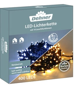 Dehner LED-Lichterkette warmweiß/kaltweiß, 400 LEDs