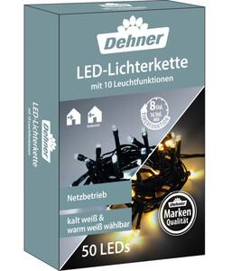 Dehner LED-Lichterkette warmweiß/kaltweiß, 5 m