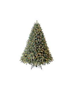 Dehner künstlicher Weihnachtsbaum 'Finja' mit LED-Beleuchtung, 180 cm