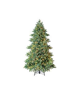 Dehner künstlicher Weihnachtsbaum 'Lyra' mit LED-Beleuchtung, 180 cm