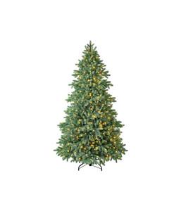 Dehner künstlicher Weihnachtsbaum 'Lyra' mit LED-Beleuchtung, 210 cm