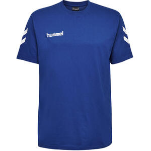 Handballshirt Kurzarm Baumwolle Herren blau