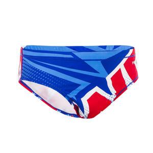 Badehose Slip Wasserball 500 Mcross Jungen blau