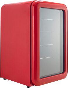 Hanseatic Getränkekühlschrank SC-130RG im klassischen Retrodesign und 4 Ablageroste, 83,5 cm hoch, 55 cm breit, LED-Innenbeleuchtung