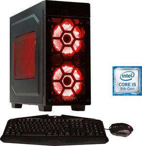 Hyrican Striker 6475 red Gaming-PC (Intel Core i5, GTX 1660 SUPER, 16 GB RAM, 1000 GB HDD, 480 GB SSD, Luftkühlung, inkl. Office-Anwendersoftware Microsoft 365 Single im Wert von 69 Euro)