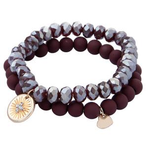 2 Damen Armbänder aus verschiedenen Perlen