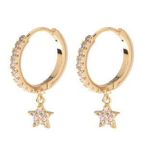 Damen Ohrringe mit Stern-Anhänger