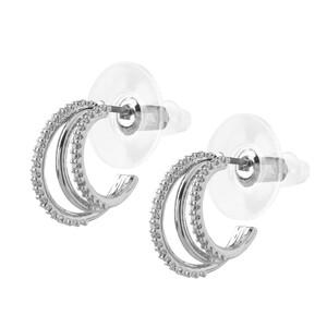 Damen Ohrringe mit Halbkreisen