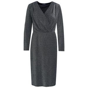 Damen Kleid mit silbernem Effektgarn
