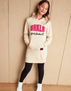 Mädchen Sweatkleid mit Kapuze