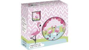 p:os  Porzellan Frühstücksset Flamingo 3tlg.