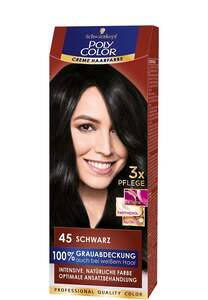 Schwarzkopf Poly Color Creme-Haarfarbe Schwarz
