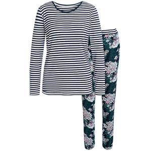 Damen Schlafanzug mit floralem Muster