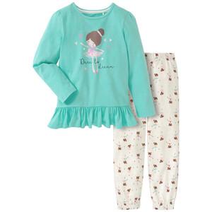 Mädchen Schlafanzug mit Ballerina-Print