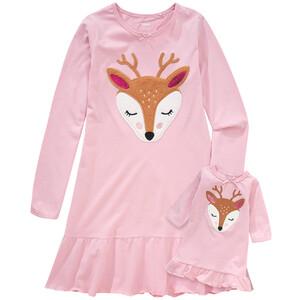 Mädchen Nachthemd mit Puppennachthemd
