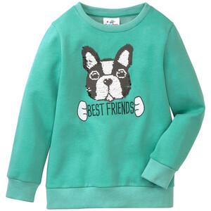 Mädchen Sweatshirt mit Hunde-Applikation