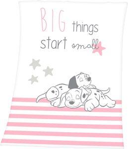 Babydecke »101 Dalmatiner«, Walt Disney, mit niedlichem 101 Dalmatiner Design