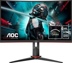 AOC CQ27G2U/BK Gaming-Monitor (2560 x 1440 Pixel, QHD, 1 ms Reaktionszeit, 144 Hz)