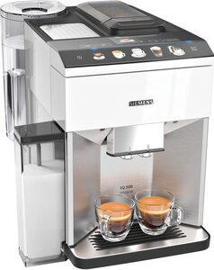 SIEMENS Kaffeevollautomat EQ.500 integral TQ507D02, einfache Bedienung, integrierter Milchbehälter, zwei Tassen gleichzeitig