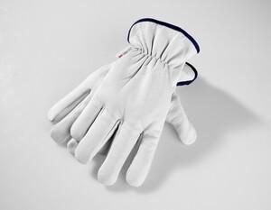 Powertec Garden Winter Ziegenleder Handschuhe, Größe 10 - Dunkelblau