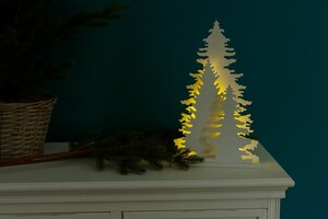 My Flair LED Tannenbaumgruppe groß, 35 cm, weiß