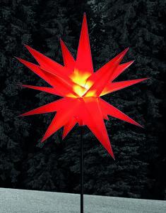 Star-Max XXL LED Kunststoff Stern rot 100cm