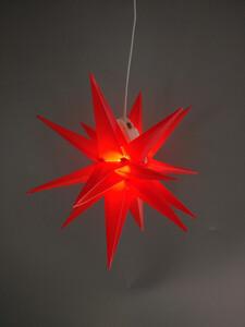 Star-Max LED Kunststoff Stern red 35cm