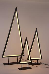 Star-Max LED Metall-Tischleuchte Tanne mit Neonlichtband 120 LED warrm weiß