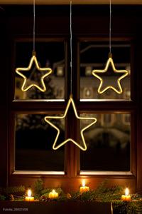 Star-Max LED Lichtervorhang mit 258 warm weiße LED