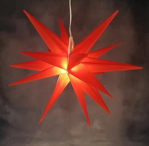 Star-Max LED Kunststoff Stern rot 58cm