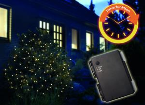 Star-Max LED Batterielichterkette mit 160 warm weiße LED´s