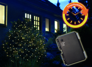 Star-Max LED Batterielichternetz 1,5m x 1,5m